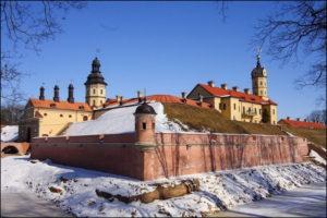 Несвижский замок зимой