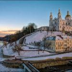 Витебск вид на Успенский Собор зимой