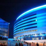 Минск -арена ночью