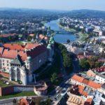 Город в Польше с высоты птичьего полета