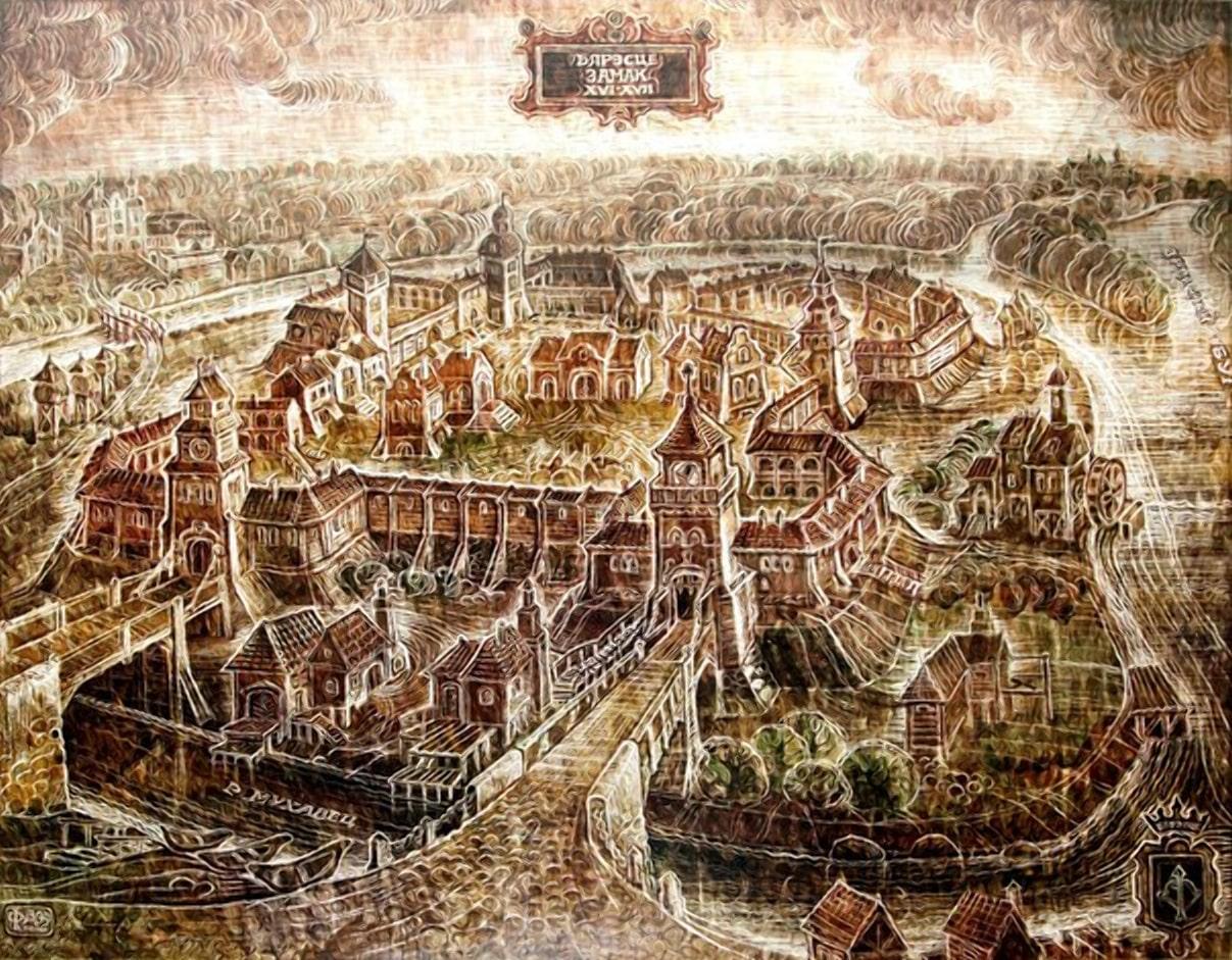 Брестский замок картина