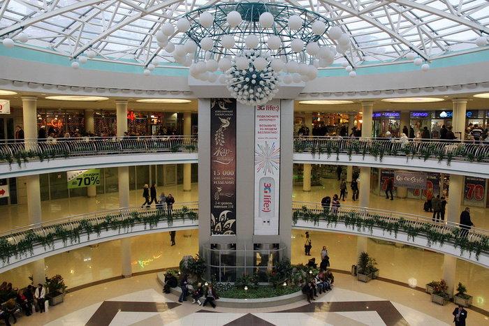 Торговый центр столица, вид внутри