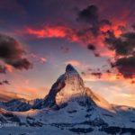 Закат в Швейцарии