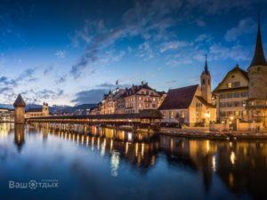Швейцария вечер