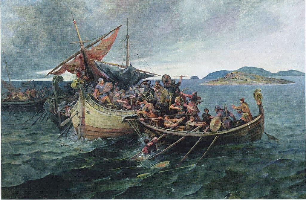 Викинги в морском бою