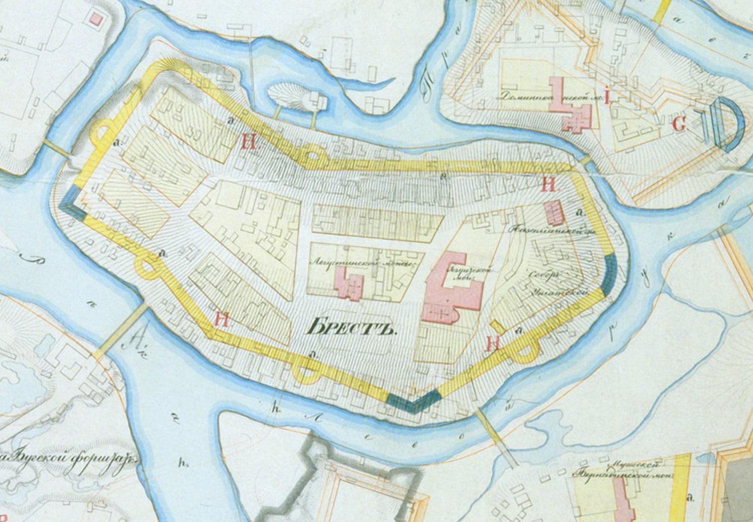План города Бреста