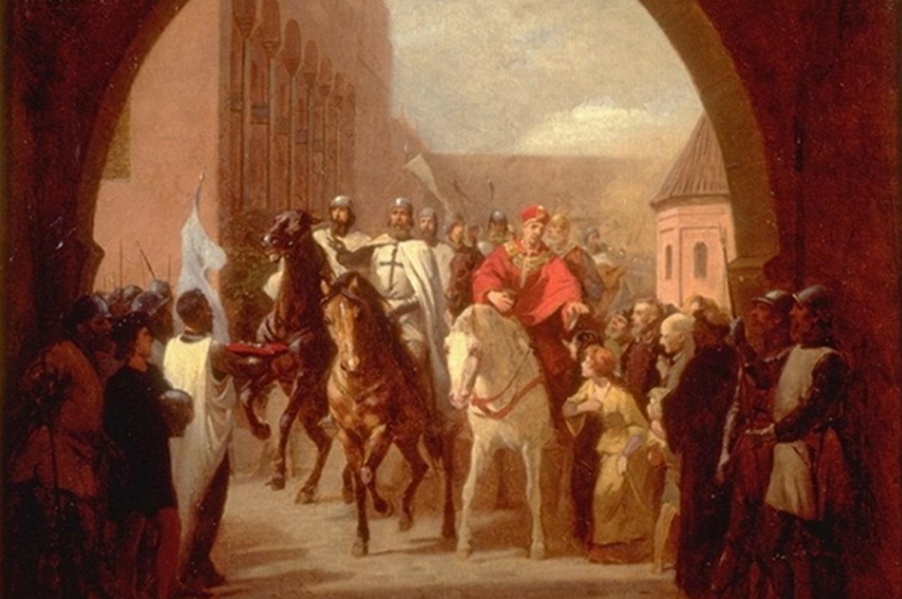 Рыцари входят в Мариенбург