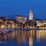 Набережная Хорватии вечером