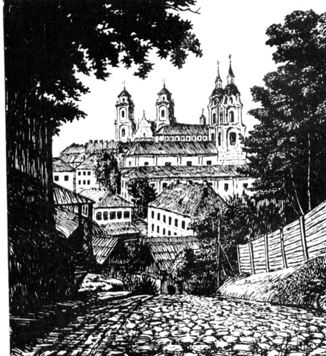 Вид на минские монастыри