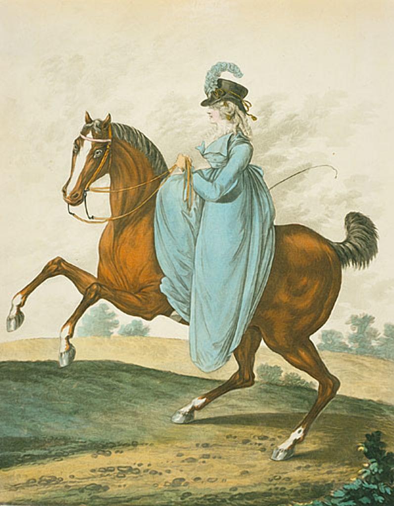 Женский охотничий костюм 19 века
