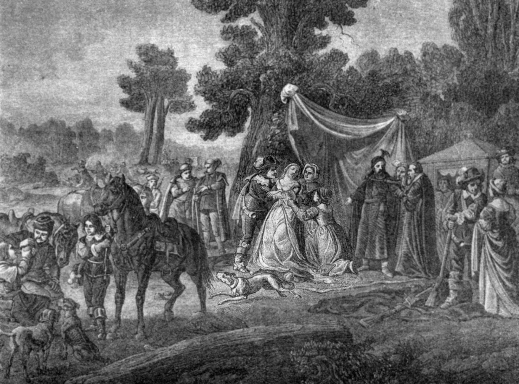 Король Владислав IV на охоте в Пуще