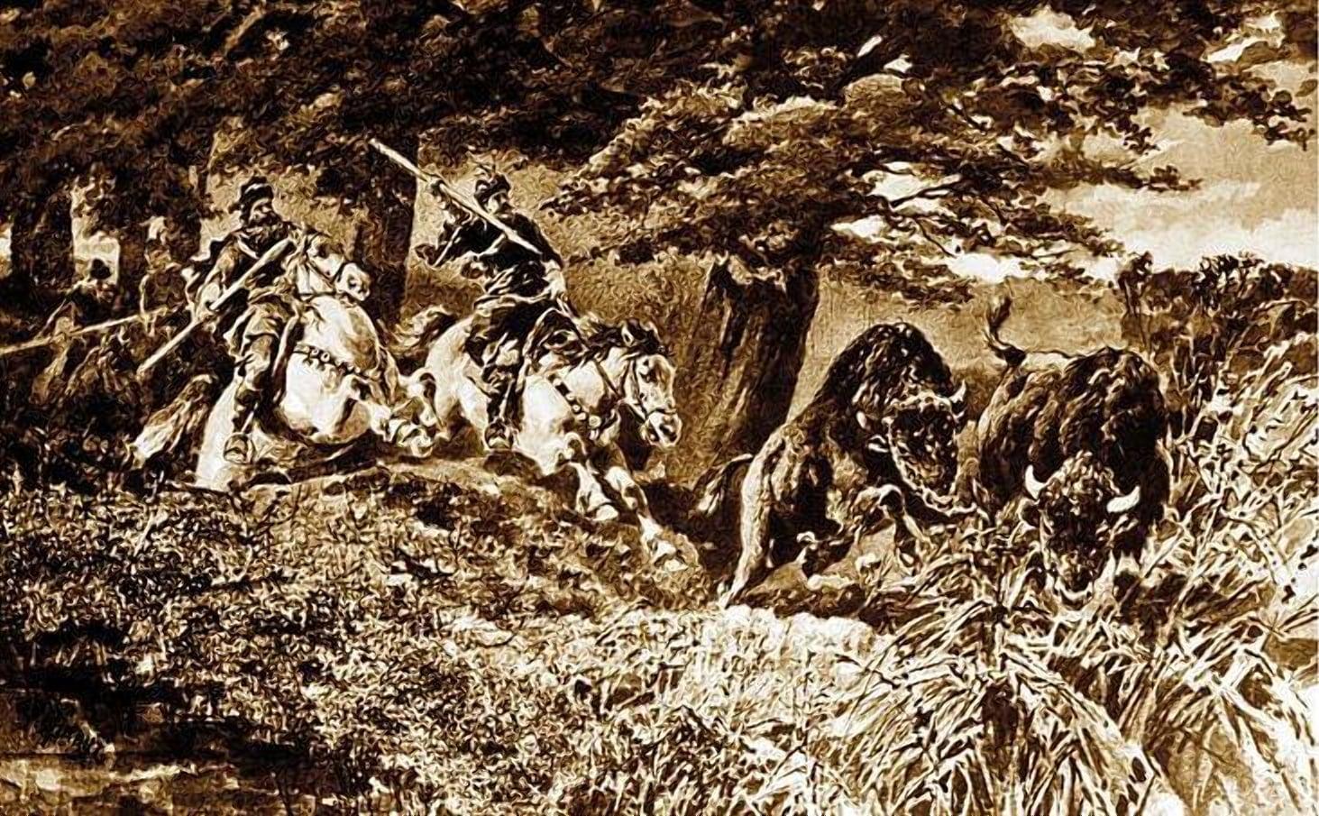 Охота на зубра в пуще в 15 веке