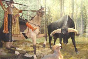 Охота на тура в 15 веке реконструкция РБ
