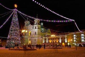 Новый год в Гродно зима