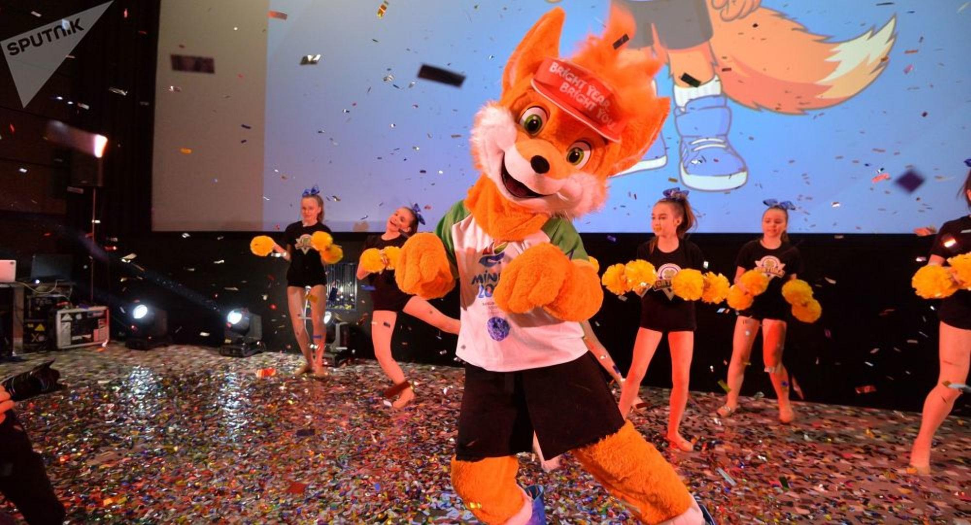 Талисман Евроигр 2019 - лисенок Лесик