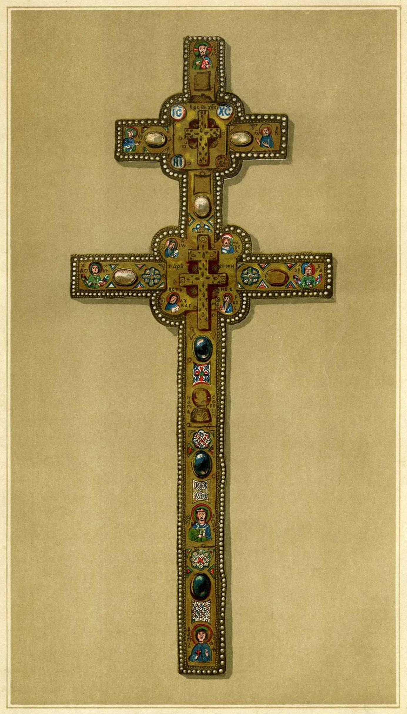 Точный рисунок настоящего креста святой Ефросиньи