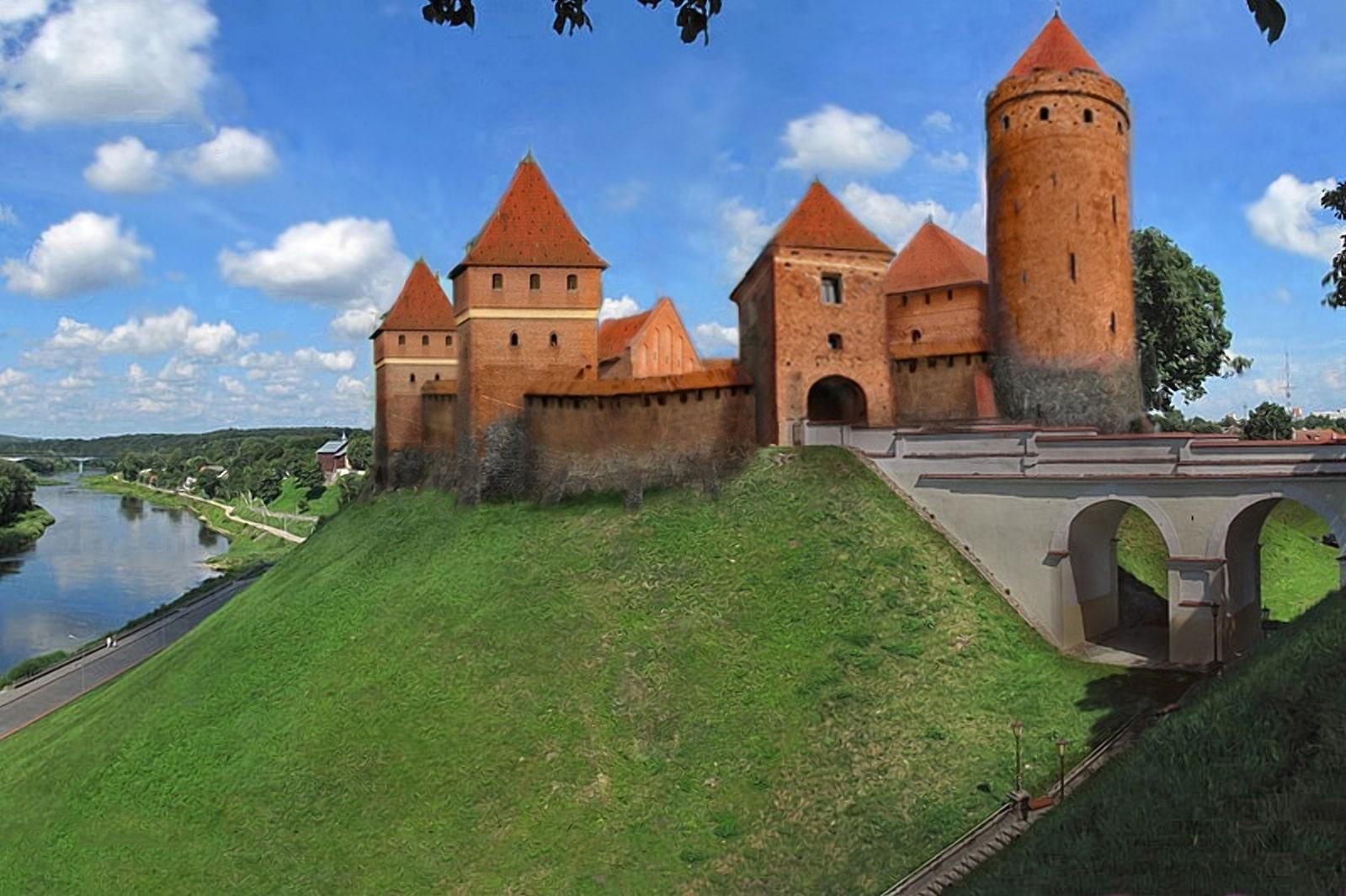 Гродненский замок времен Витовта