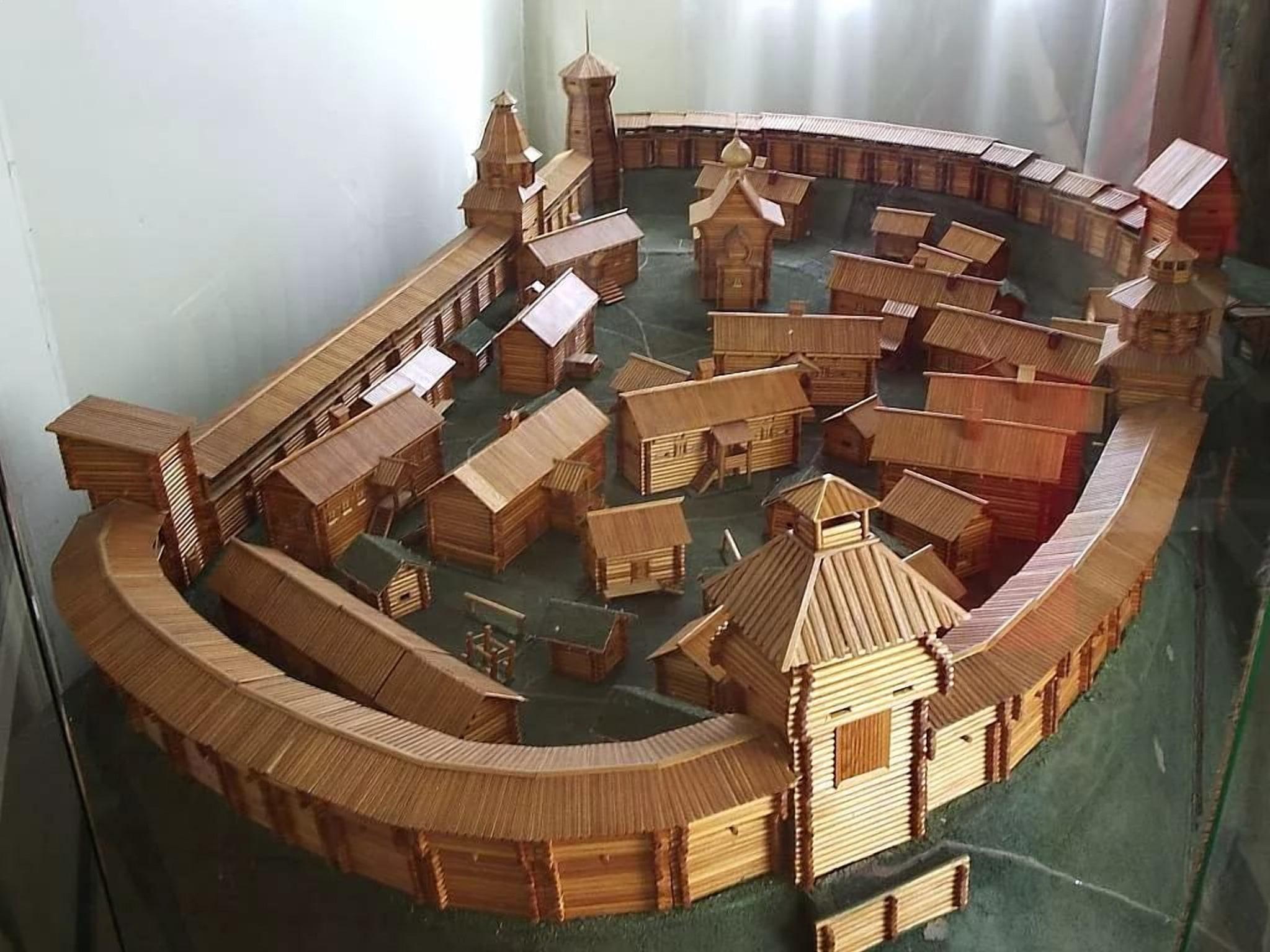 Заславль в 10 веке, макет