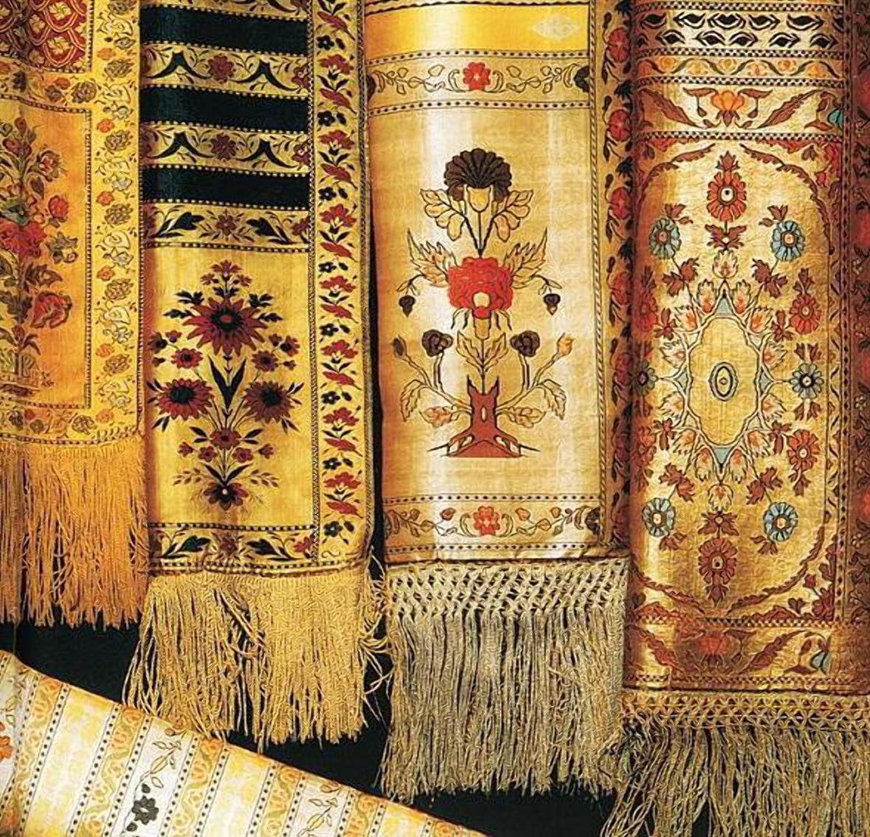 Шелковые пояса выпускаемые на мануфактуре в Гродно