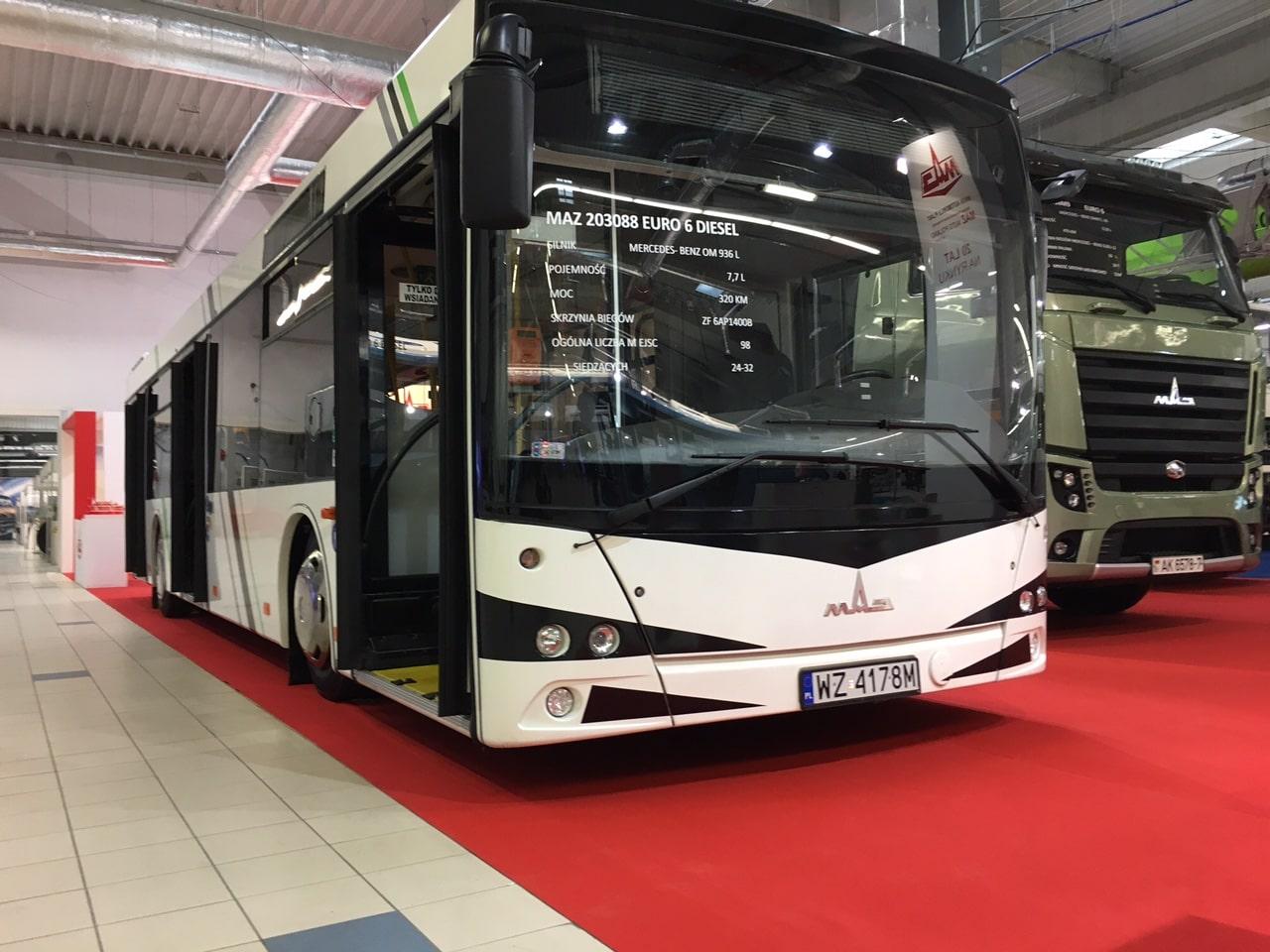 Автобус МАЗ в Польше