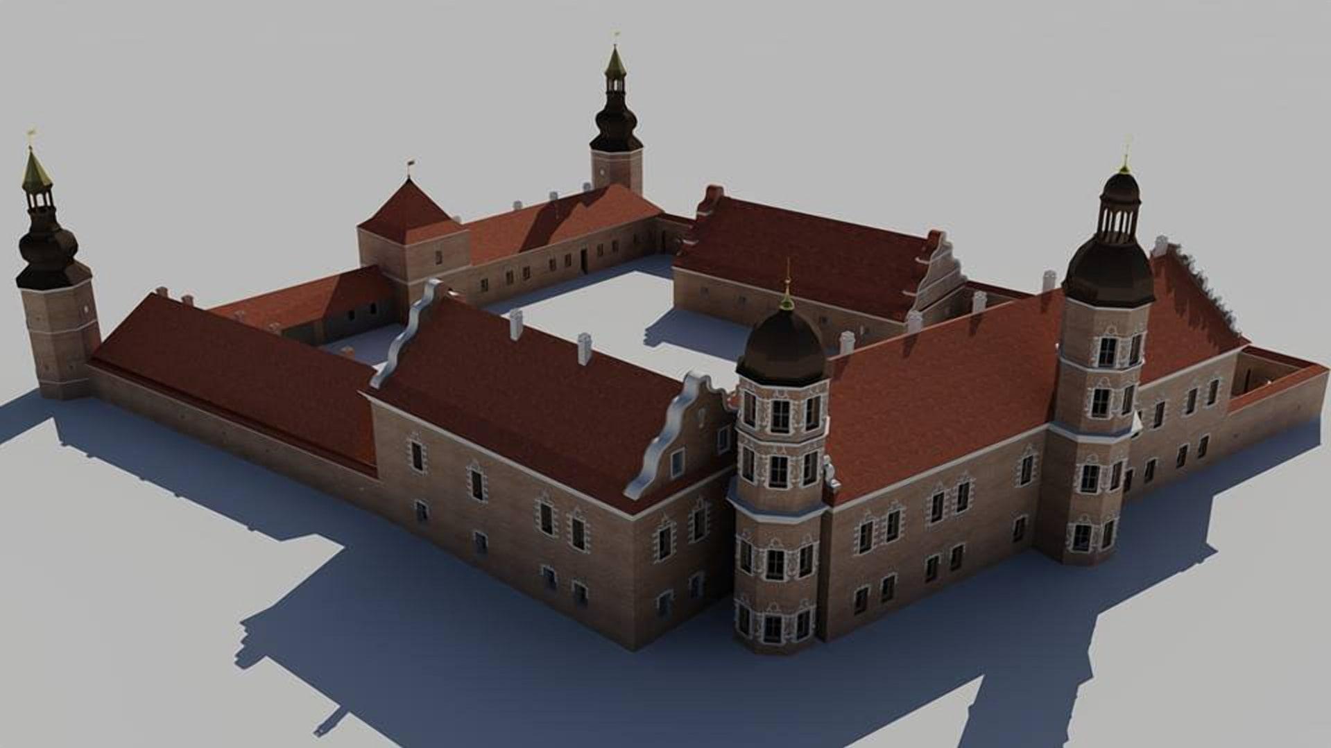 Быховский замок в начале 18 века реконструкция