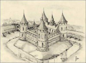 Замок в Геранёнах рисунок