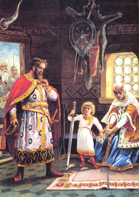 Изяслав защишает Рогнеду