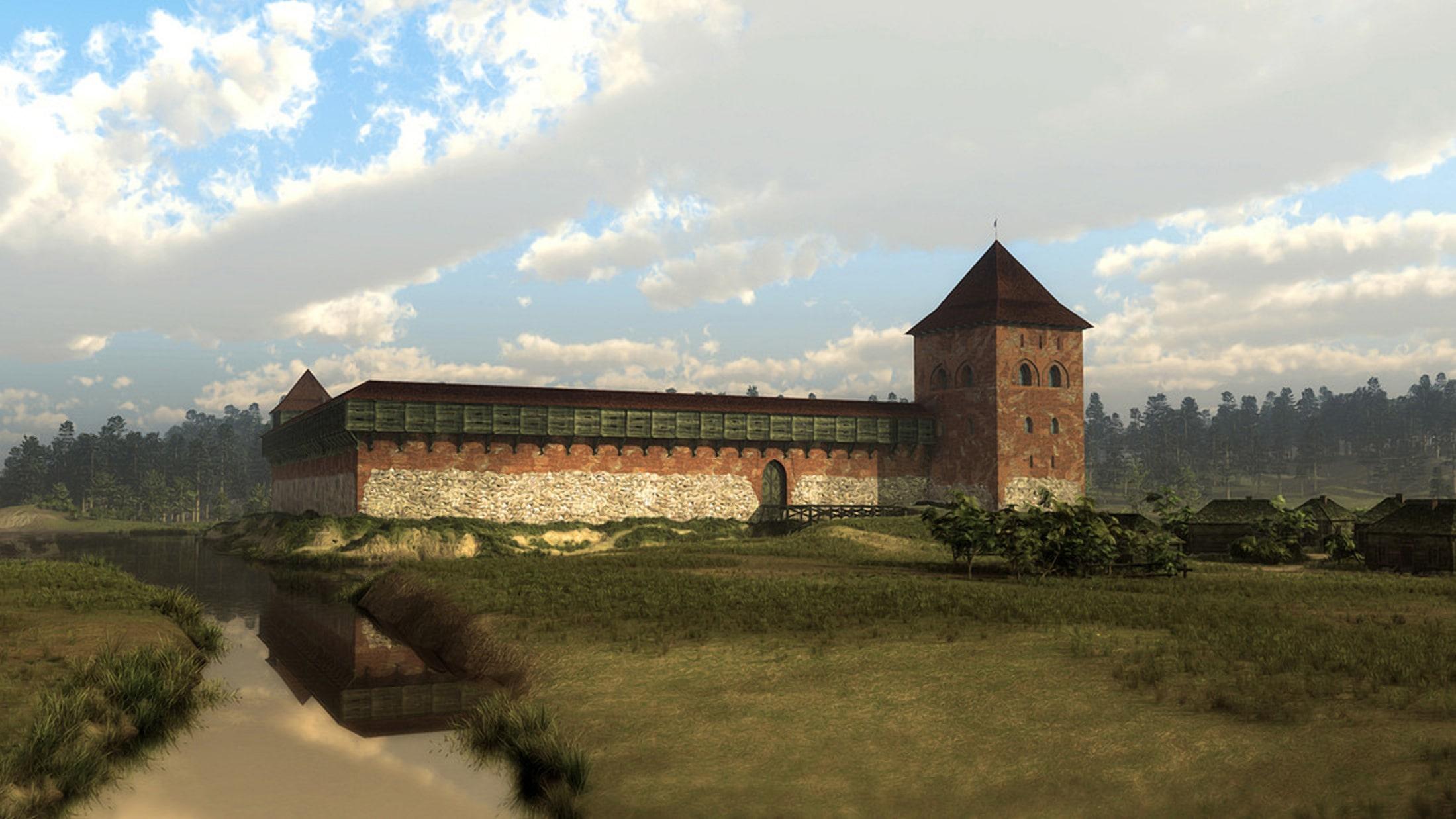 Кревский замок реконструкция