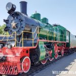 Паровоз в музее железнодорожной техники г.Брест