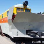 Поезд в музее железнодорожной техники в Бресте