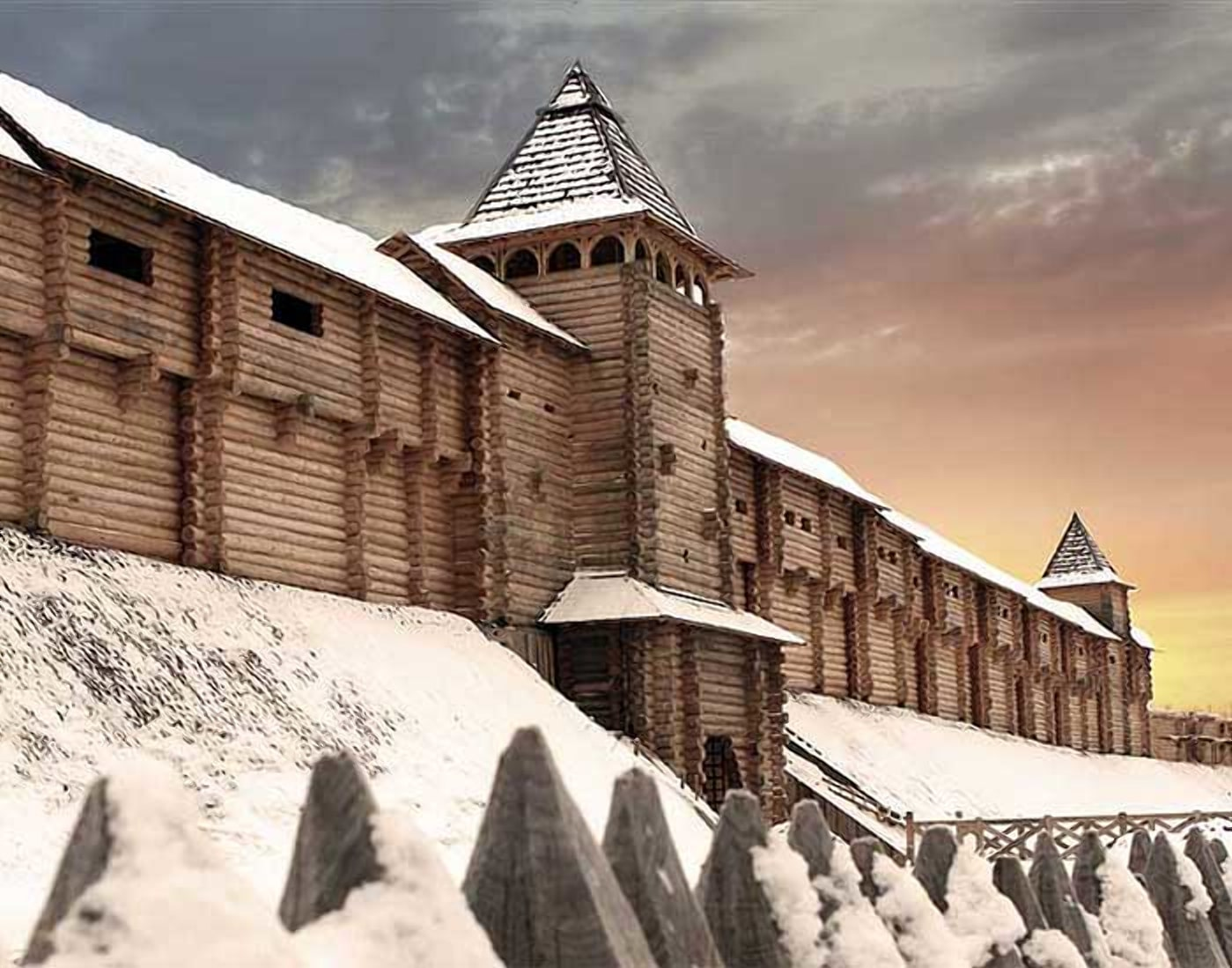 Старый пинский замок времен Войшелка