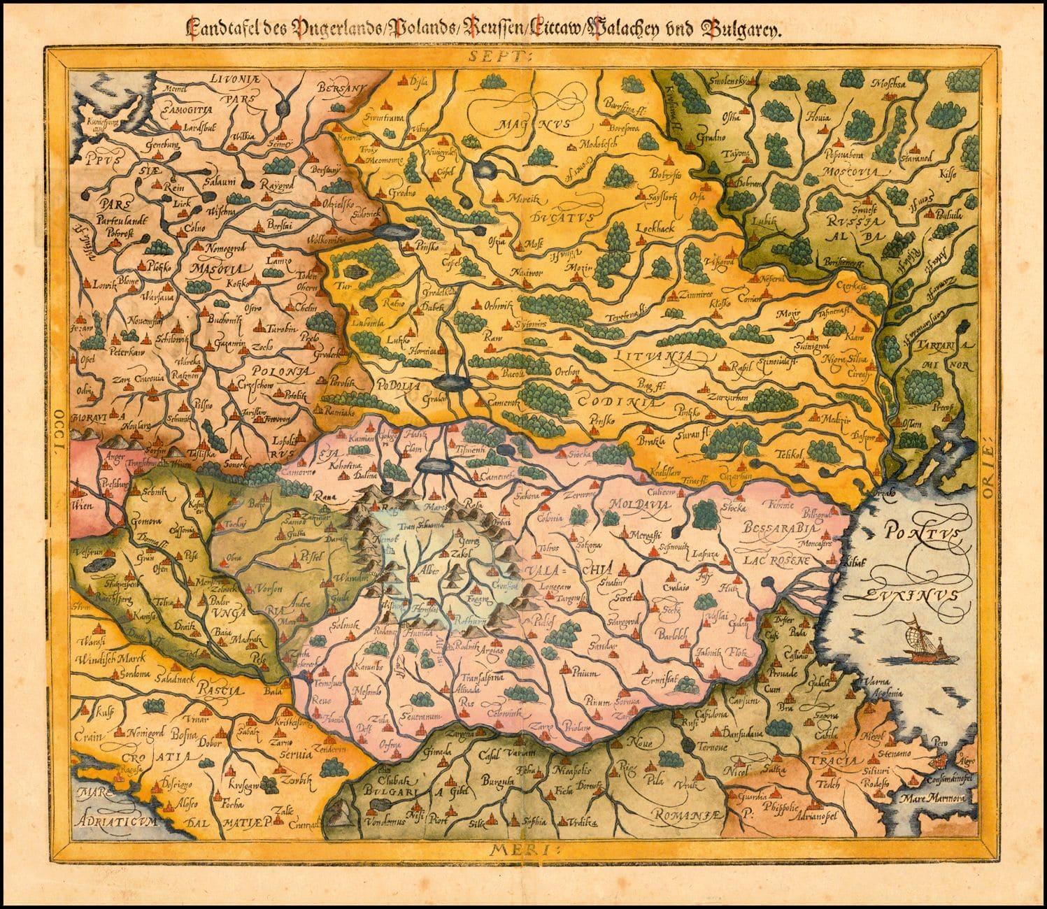 Белая Русь на средневековых картах в районе Смоленска