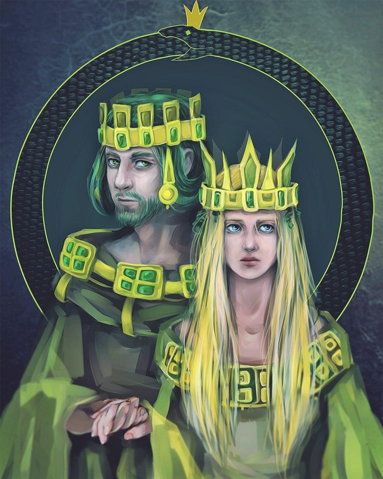 Король и королева ужей