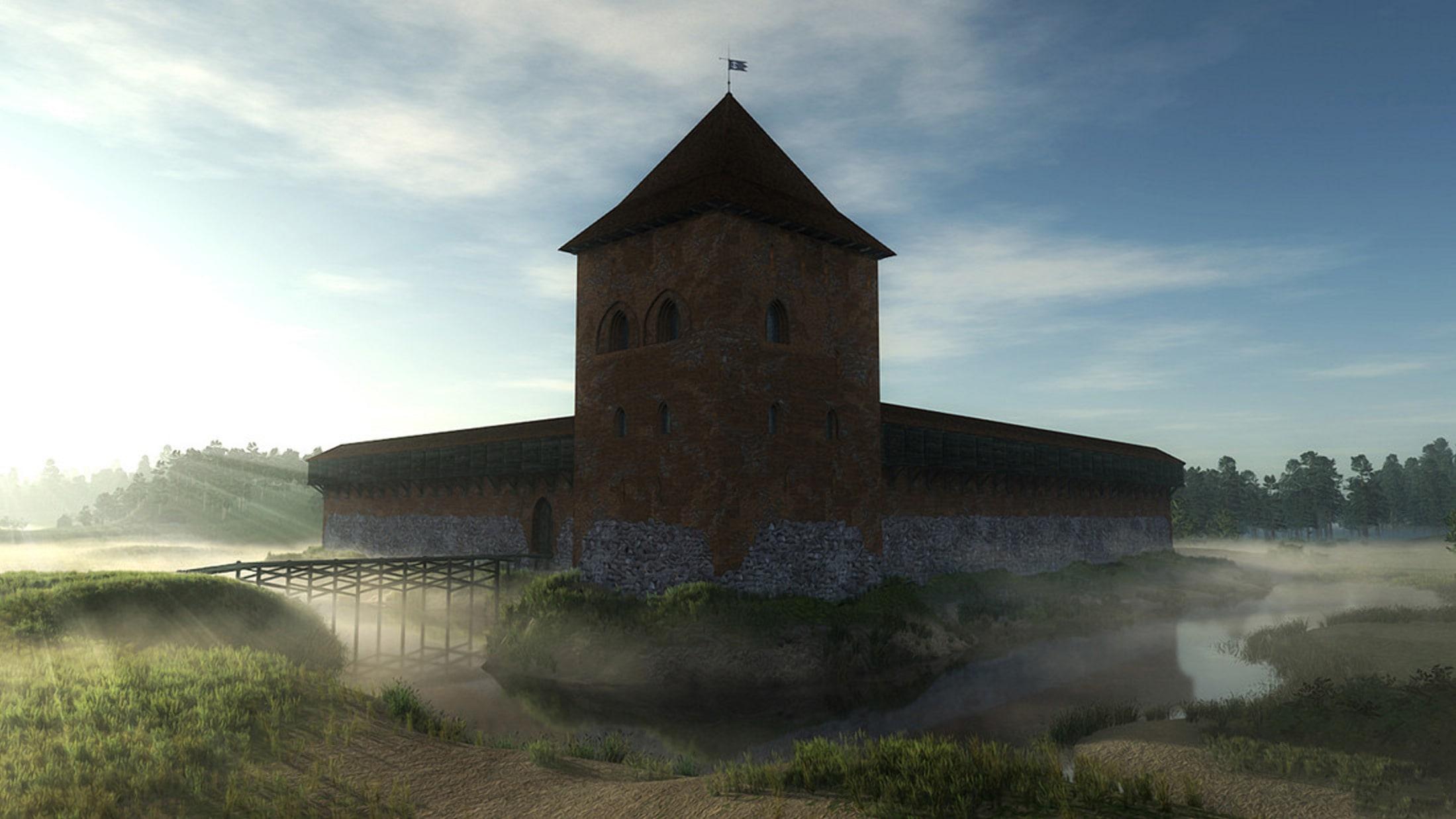 Древний Кревский замок