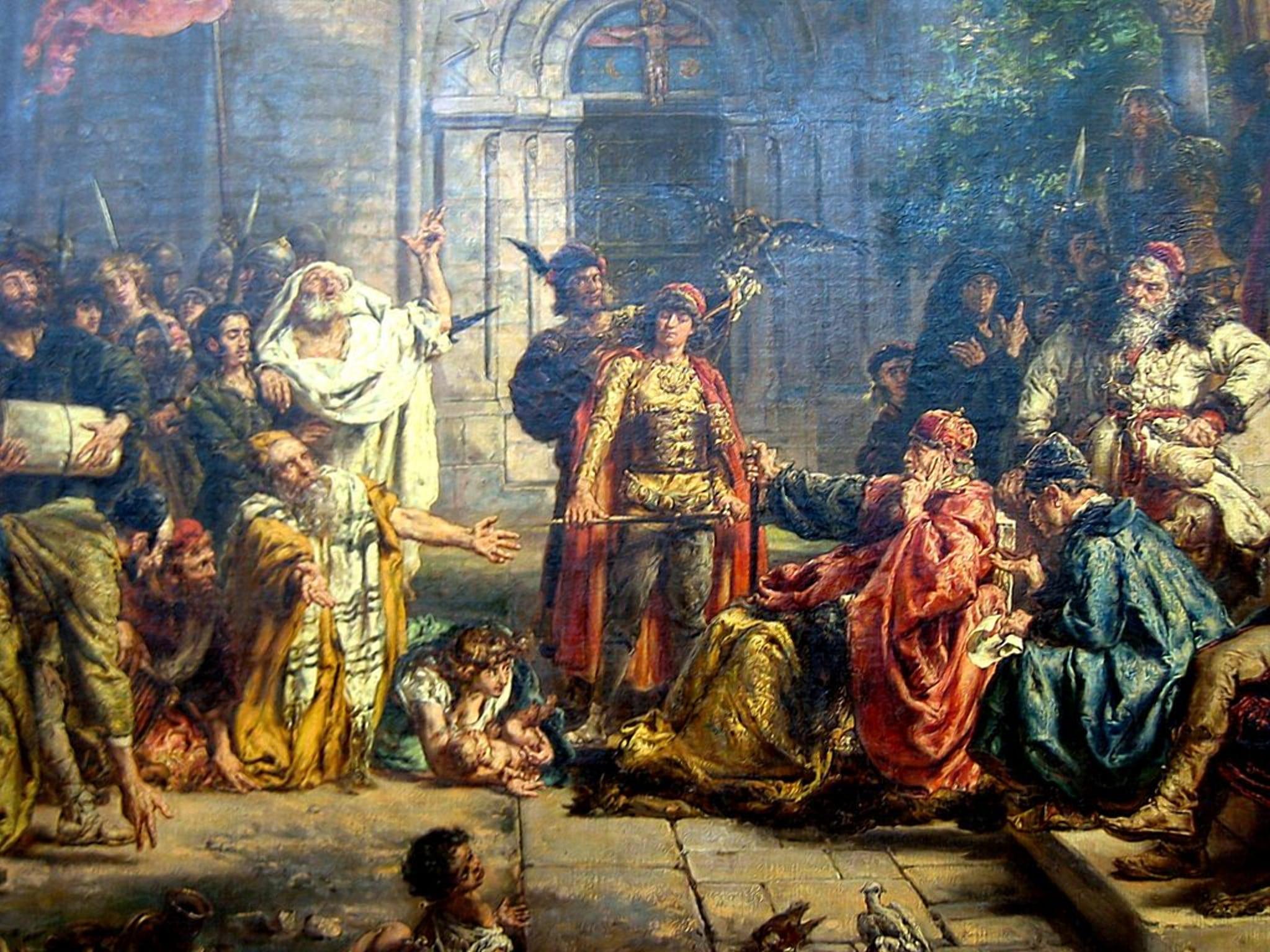Король даёт привилегии еврейским торговцам и ремесленникам