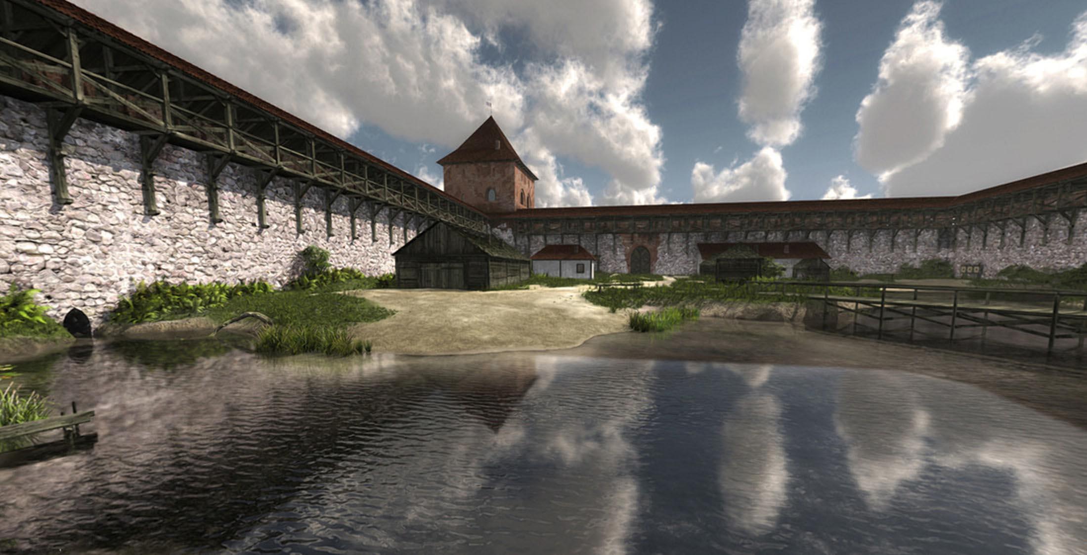 Кревский замок начали реставрировать