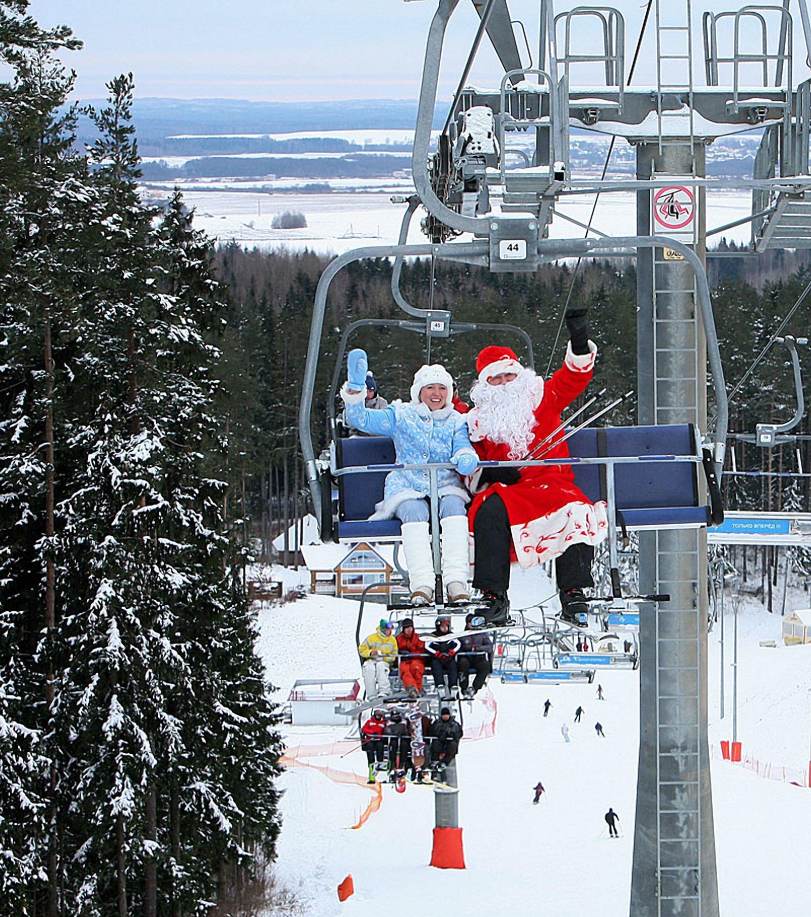 Новогодние катания в Беларуси