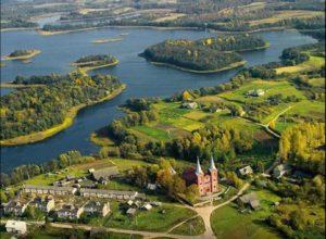 Браславские озера вид с высоты
