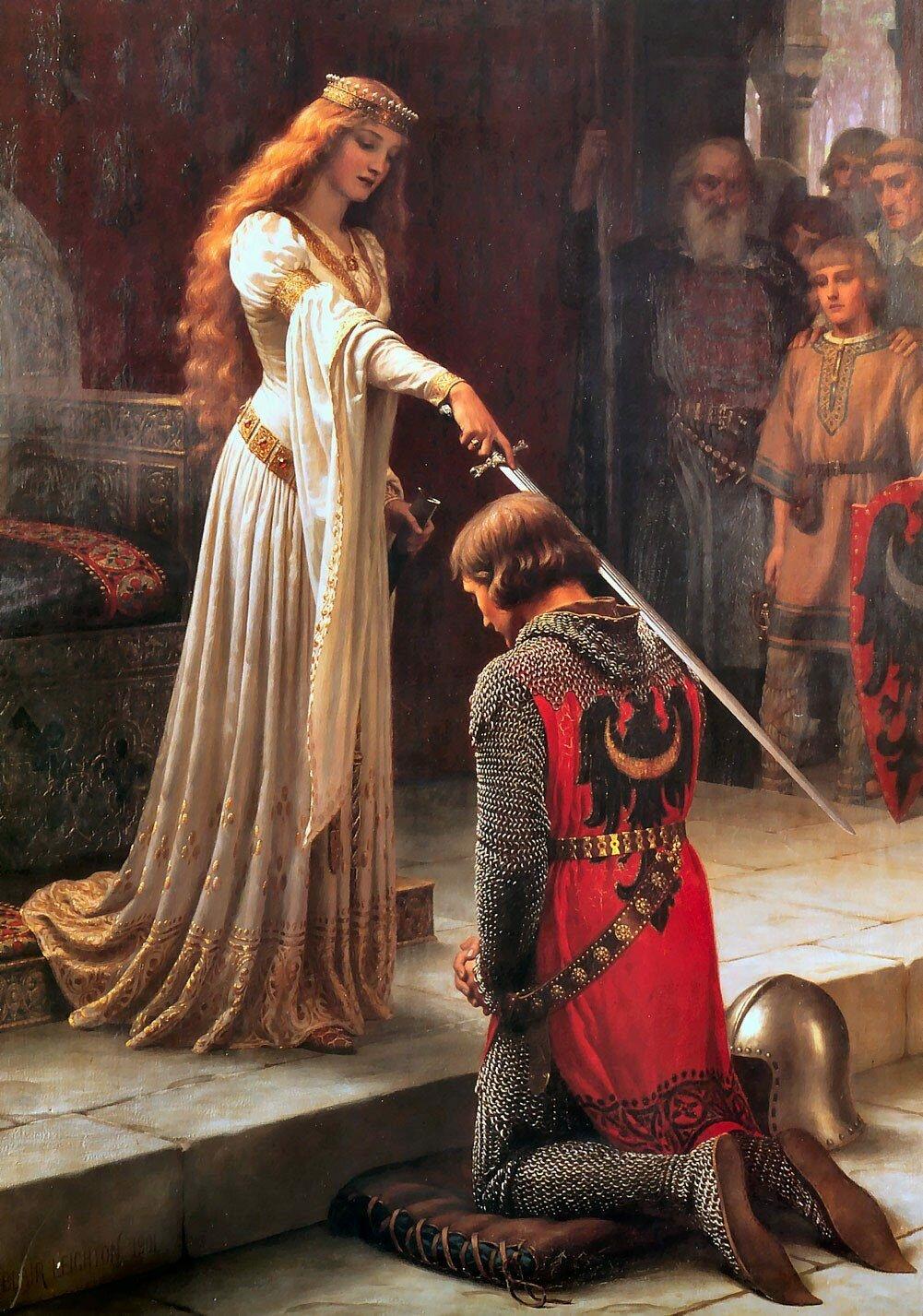 Византийская принцесса Варвара посвящает в рыцари