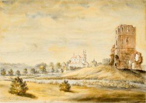 Костел на рисунке Наполеона Орды 1877г.