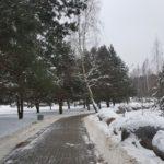 Музей валунов зимой
