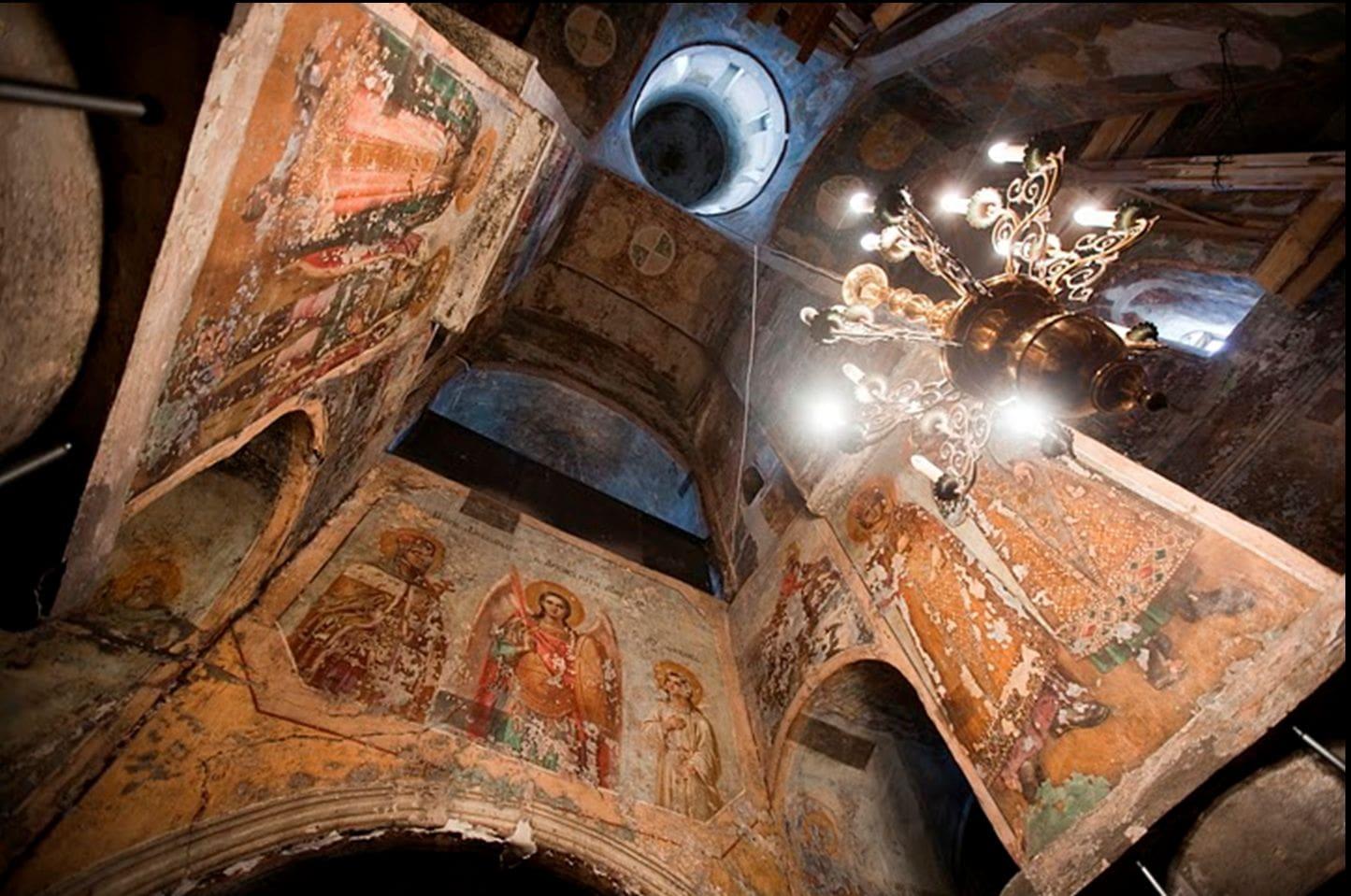 Уникальные фрески полоцкого монастыря 12 века