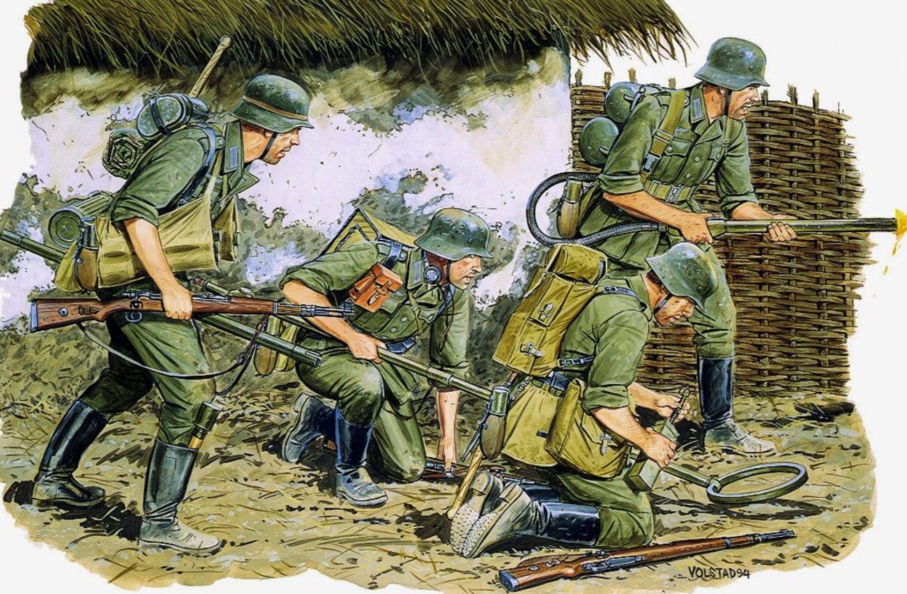 Саперов с огнеметами немецкие историки не учитывали