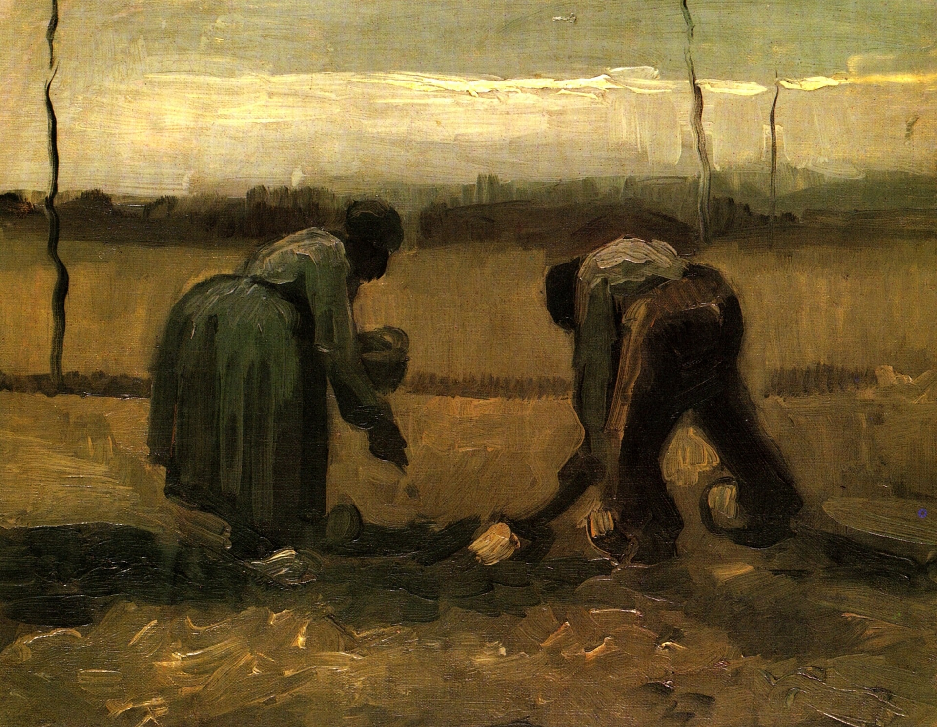 Культура возделывания картофеля была такая же как в Европе