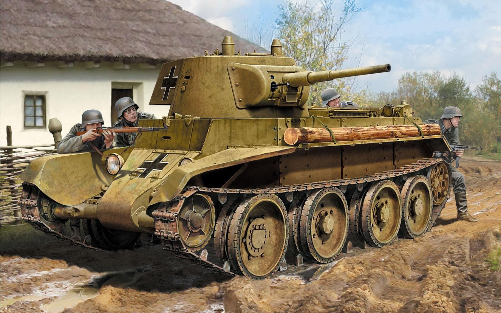 Гитлеровцы при штурме форта использовали трофейные советские танки