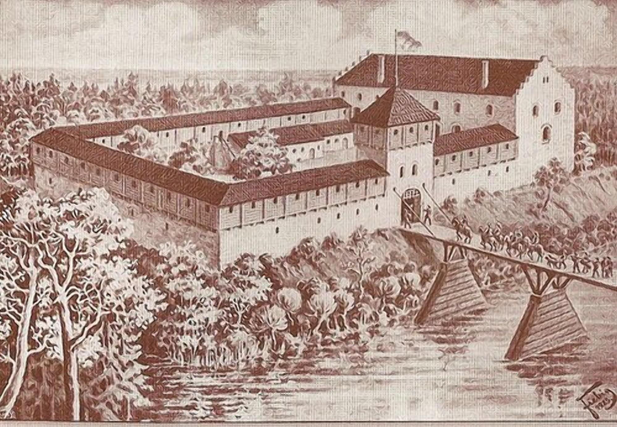 Под резиденцию Сапега перестроил небольшой замок Тышкевича