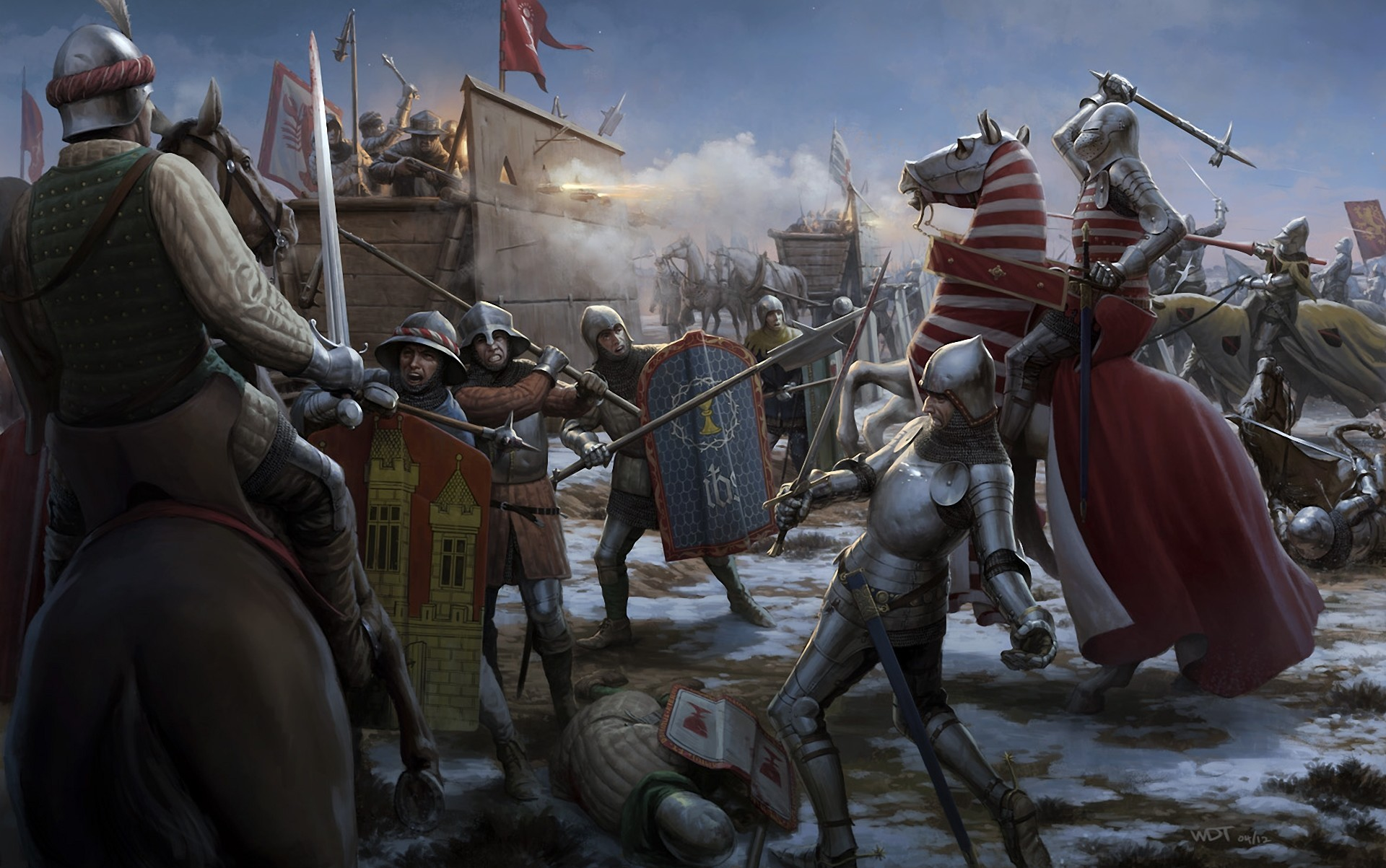 Приграничные битвы с тевтонцами отвлекали войска ВКЛ