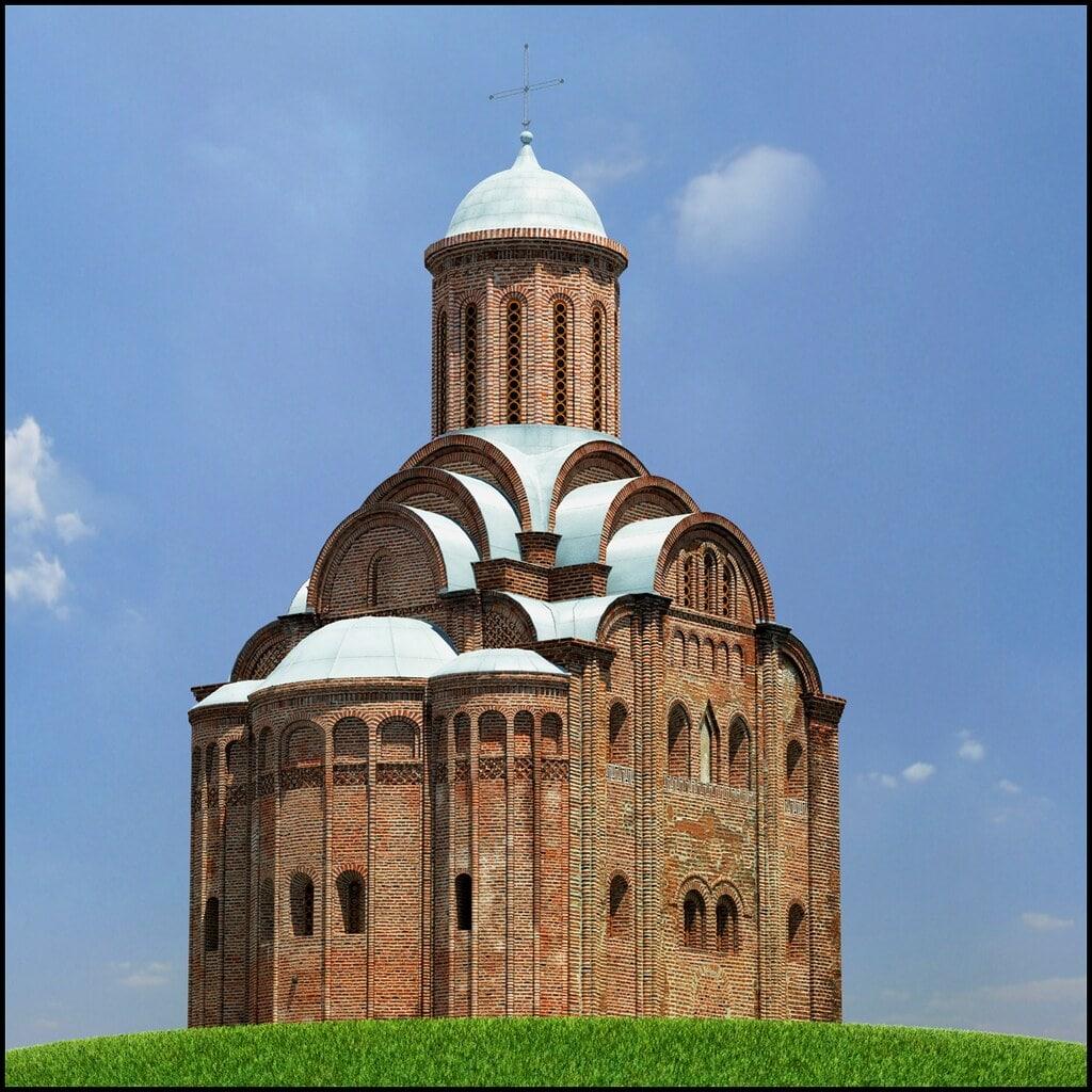 Реконструкция Свято-Воскресенского храма в Витебске, построенного Ольгердом