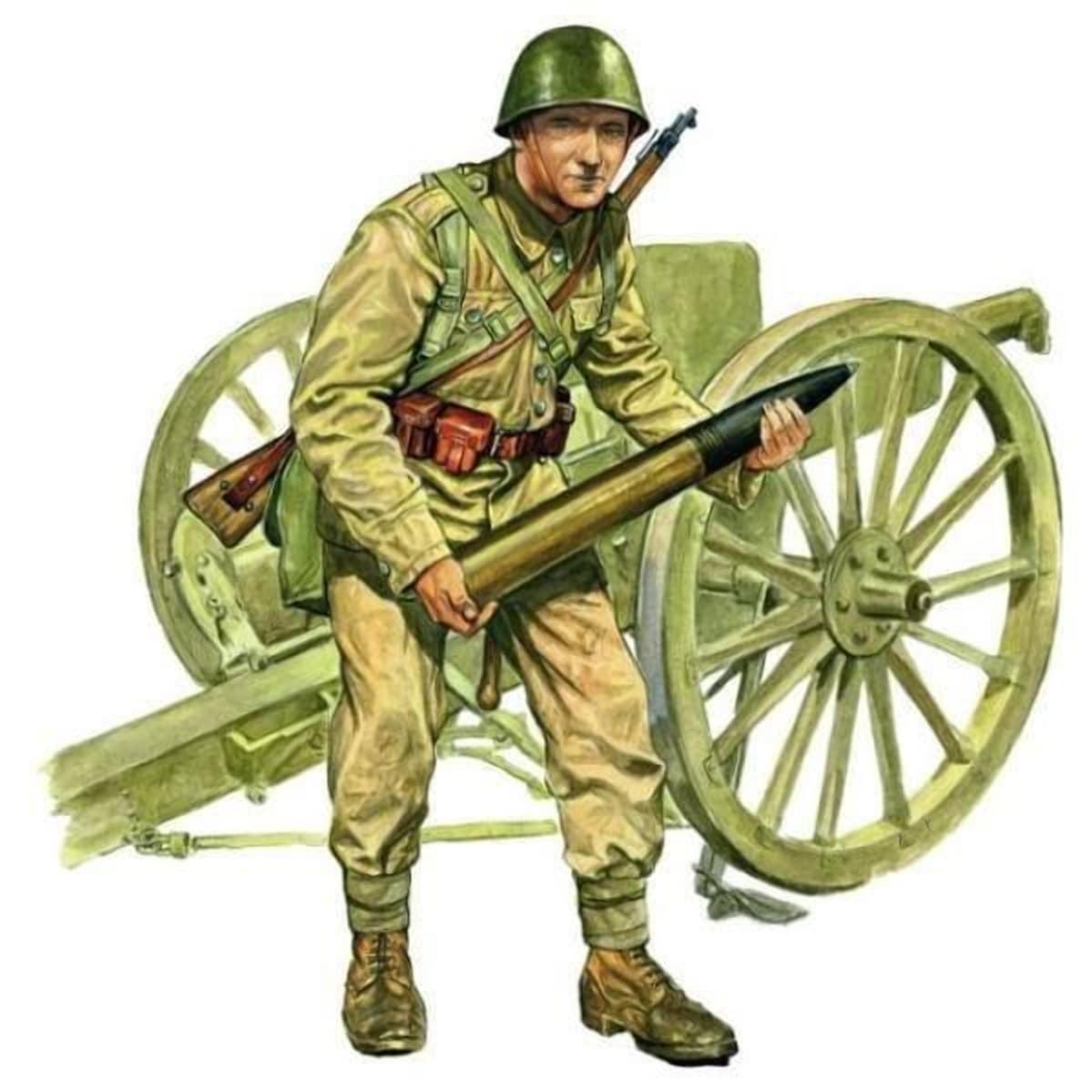 Удалось получить для обороны крепости несколько полевых орудий