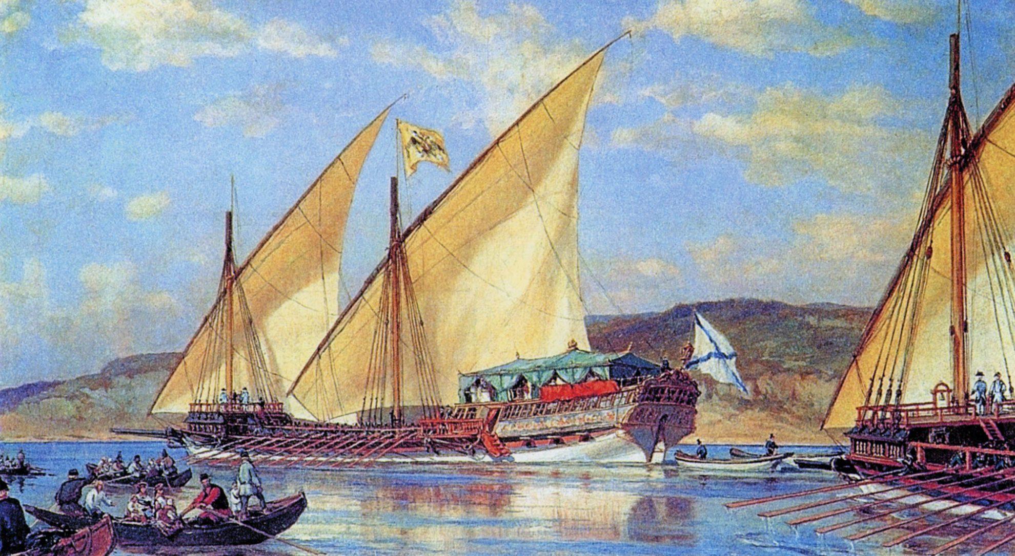 Корабли для путешествия Екатерины Второй строились в Кричеве